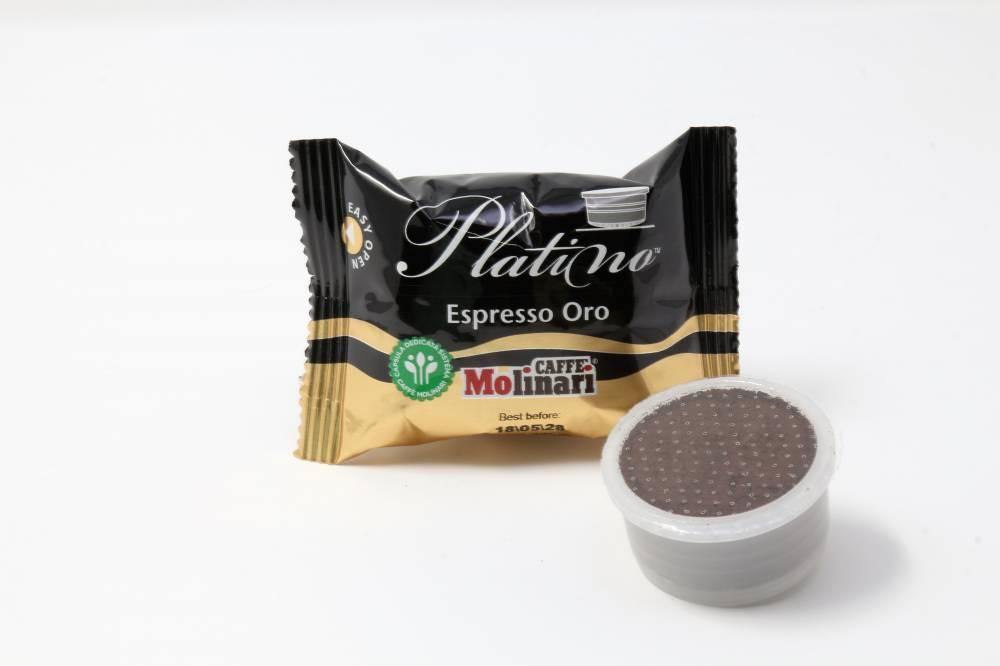 QUALITA´ PLATINO ESPRESSO ORO CAFFE´ MOLINARI CLONE LAVAZZA ESPRESSO POINT Confezione da 100 pezzi  Mix dei migliori caffè per un´indistinguibile corpo, crema ed aroma