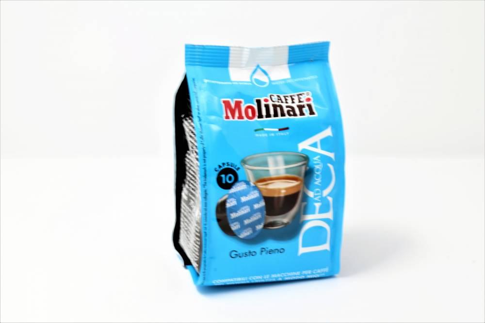 QUALITA´ DECAFFEINATO CAFFE´ MOLINARI PER LAVAZZA A MODO MIO Confezione da 100 pezzi Pieno gusto corpo e aroma per chi vuole rinunciare alla caffeina
