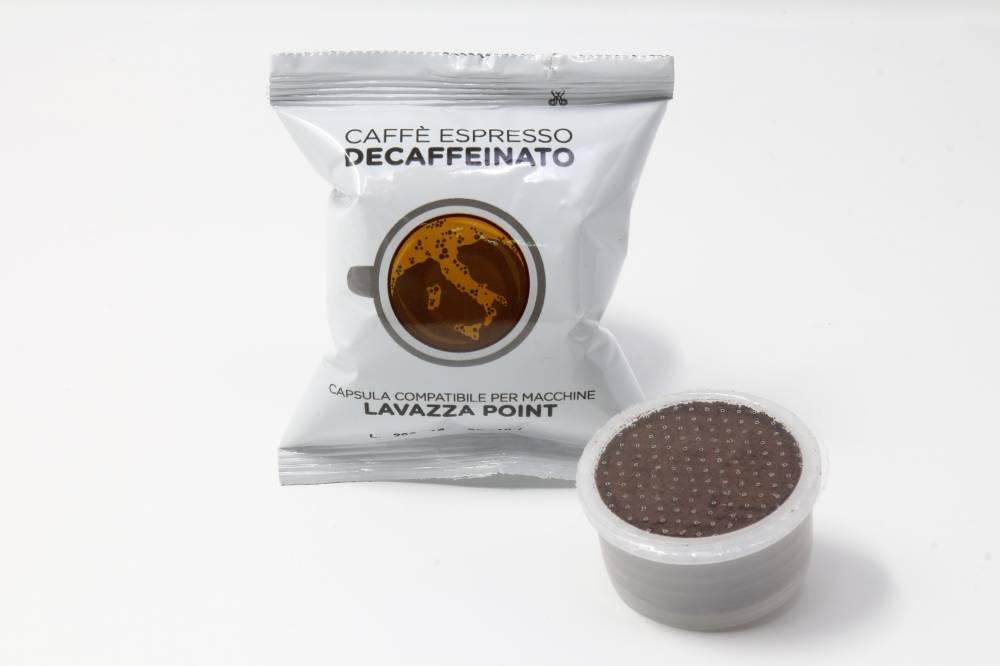 capsule Lavazza point Decaffeinato La Compatibile miscela di pregiate qualita di caffe torrefatto macinato e confezionato in atmosfera protettiva monodose