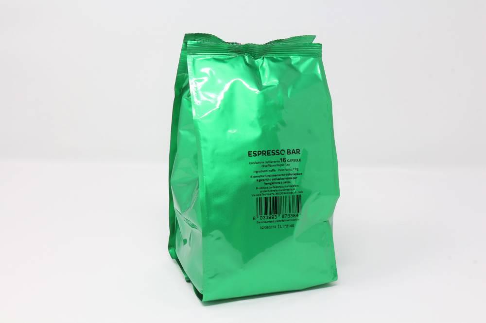 """QUALITA´ ESPRESSO BAR """"LA COMPATIBILE"""" CLONE NESCAFE´ DOLCEGUSTO Confezione da 160 pezzi  Una miscela con aroma intenso, una soffice crema e un piacevole retrogusto persistente.  Arabica 30-40% Robusta 70-60%"""