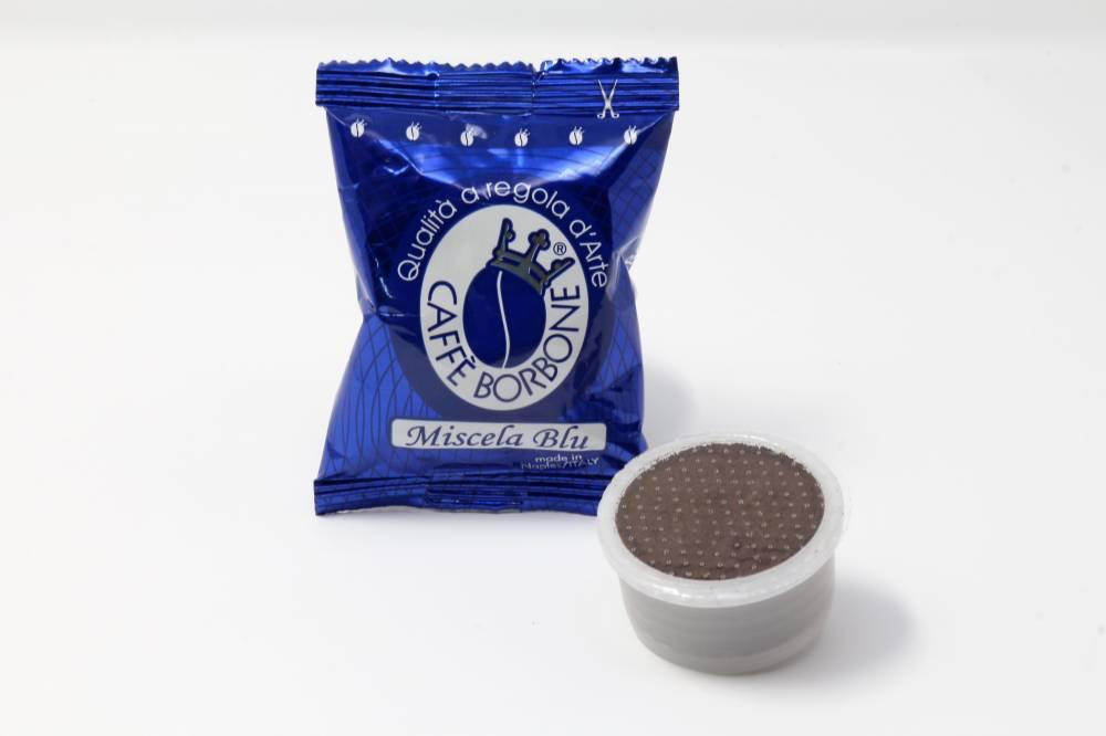 MISCELA BLU BORBONE COMPATIBILE ESPRESSO POINT Confezioni da 100 pezzi Per palati decisi ed esigenti, per chi preferisce un caffè dal gusto corposo e cremoso