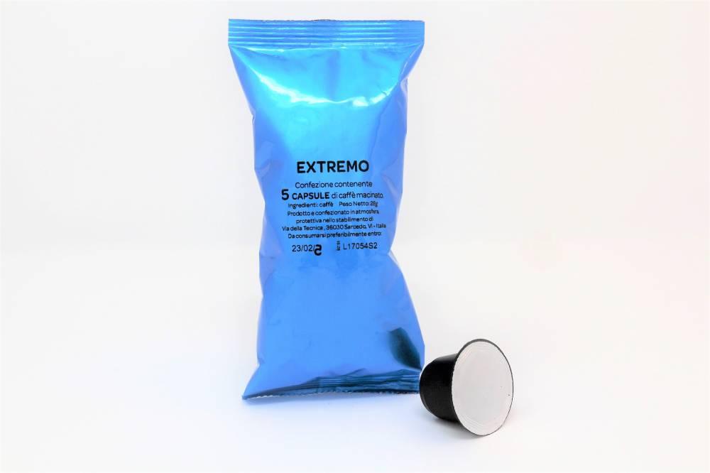 cialde caffè compatibile con macchine Nespresso torrefazione La Compatibile miscela extrema, tostatura forte e crema persistente