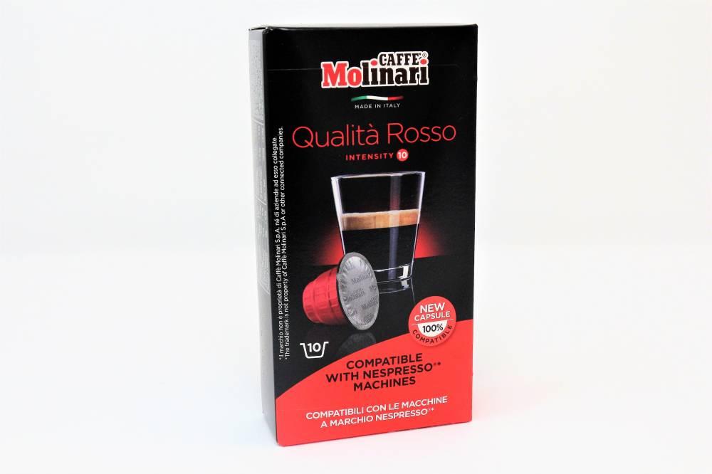 """QUALITA´ ROSSO """"CAFFE´ MOLINARI"""" PER NESPRESSO Confezione da 100 pezzi Sapore forte e crema scura, per tutti i clienti che amano un caffè dal gusto deciso"""