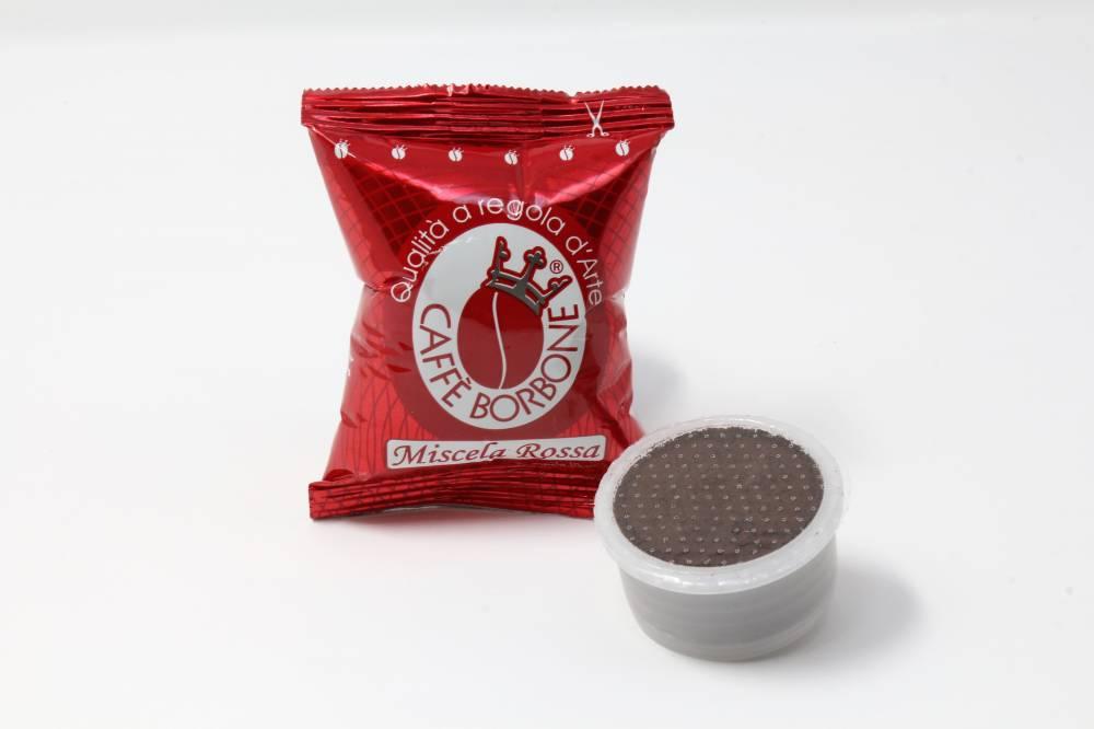 MISCELA ROSSA BORBONE COMPATIBILE ESPRESSO POINT Confezioni da 100 pezzi Caffè robusto e denso, dal sapore forte e deciso