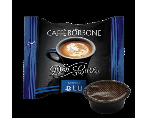 MISCELA BLU BORBONE DON CARLO COMPATIBILE A MODO MIO Confezioni da 100 pezzi Per palati decisi ed esigenti, per chi preferisce un caffè dal gusto corposo e cremoso