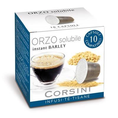 CONFEZIONE DA 10 CAPSULE ORZO SOLUBILE CAFFÈ CORSINI COMPATIBILI CON MACCHINE NESPRESSO® Infusi, Tè, Tisane Orzo solubile, instant Barley